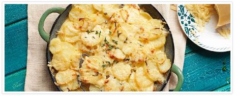 Recept Boerenkaas aardappelgratin